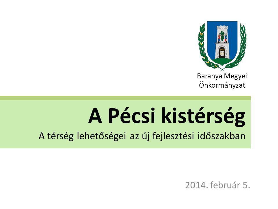 A Pécsi kistérség A térség lehetőségei az új fejlesztési időszakban 2014.