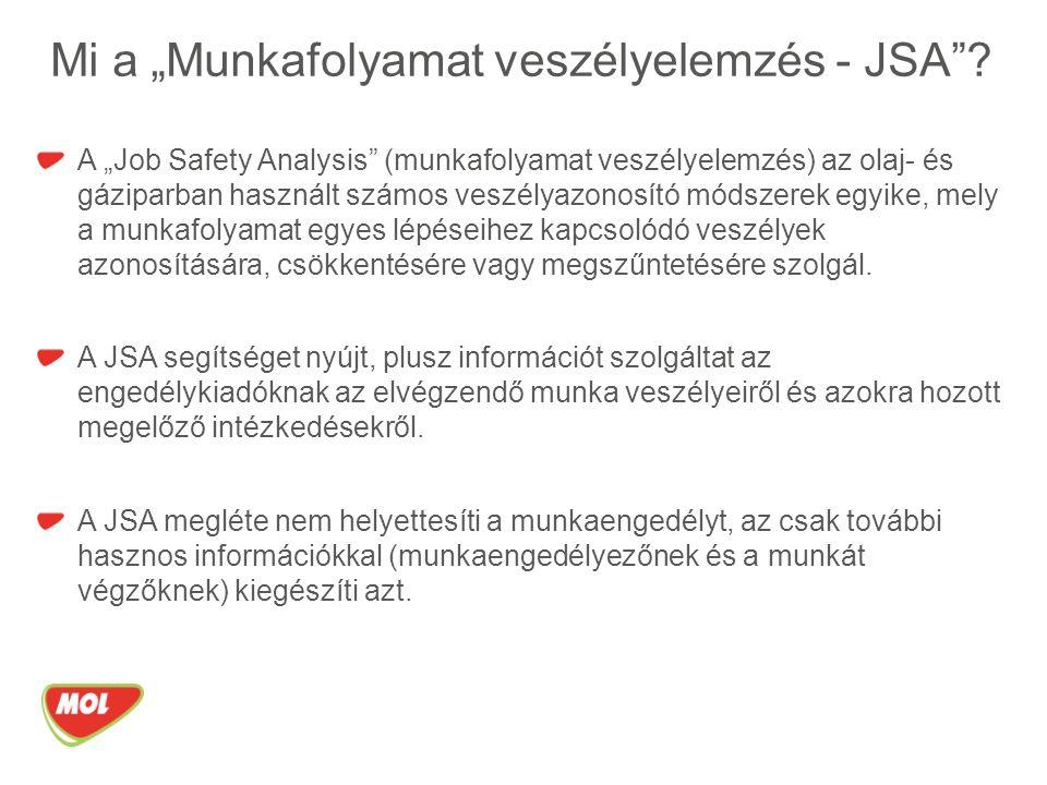 """Mi a """"Munkafolyamat veszélyelemzés - JSA ."""
