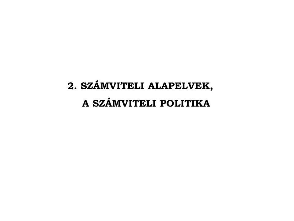 2. SZÁMVITELI ALAPELVEK, A SZÁMVITELI POLITIKA