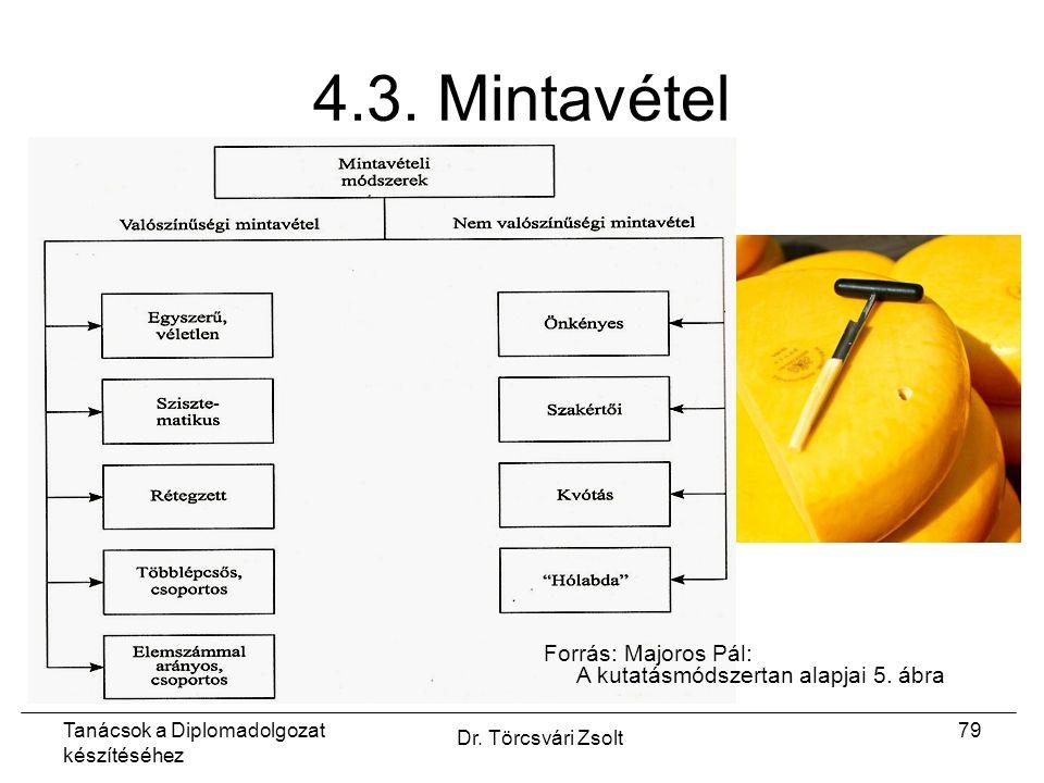 Tanácsok a Diplomadolgozat készítéséhez Dr. Törcsvári Zsolt 79 4.3.