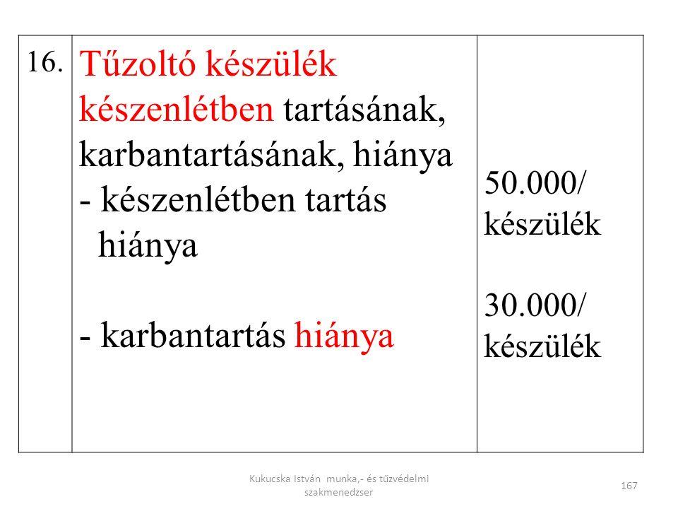 Kukucska István munka,- és tűzvédelmi szakmenedzser 167 16.