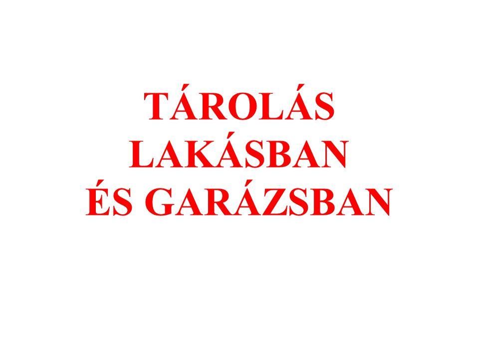 TÁROLÁS LAKÁSBAN ÉS GARÁZSBAN