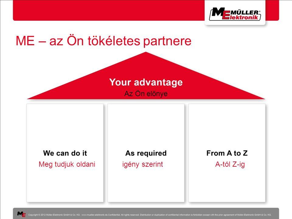 ME – az Ön tökéletes partnere Az Ön előnye Meg tudjuk oldaniigény szerintA-tól Z-ig