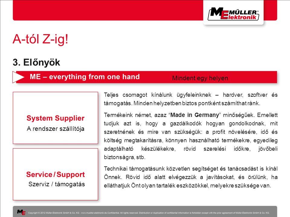 A-tól Z-ig! Teljes csomagot kínálunk ügyfeleinknek – hardver, szoftver és támogatás. Minden helyzetben biztos pontként számíthat ránk. Termékeink néme