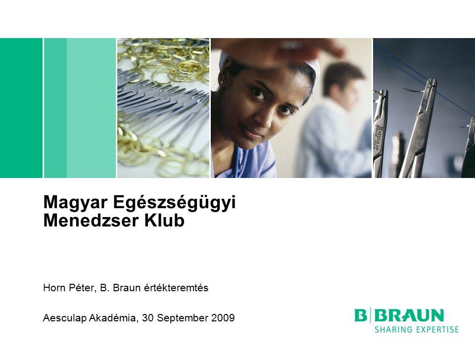 B.Braun cégcsoport   Horn Péter   Egészségügyi Menedzser Klub   Page12 Gyártás – B.