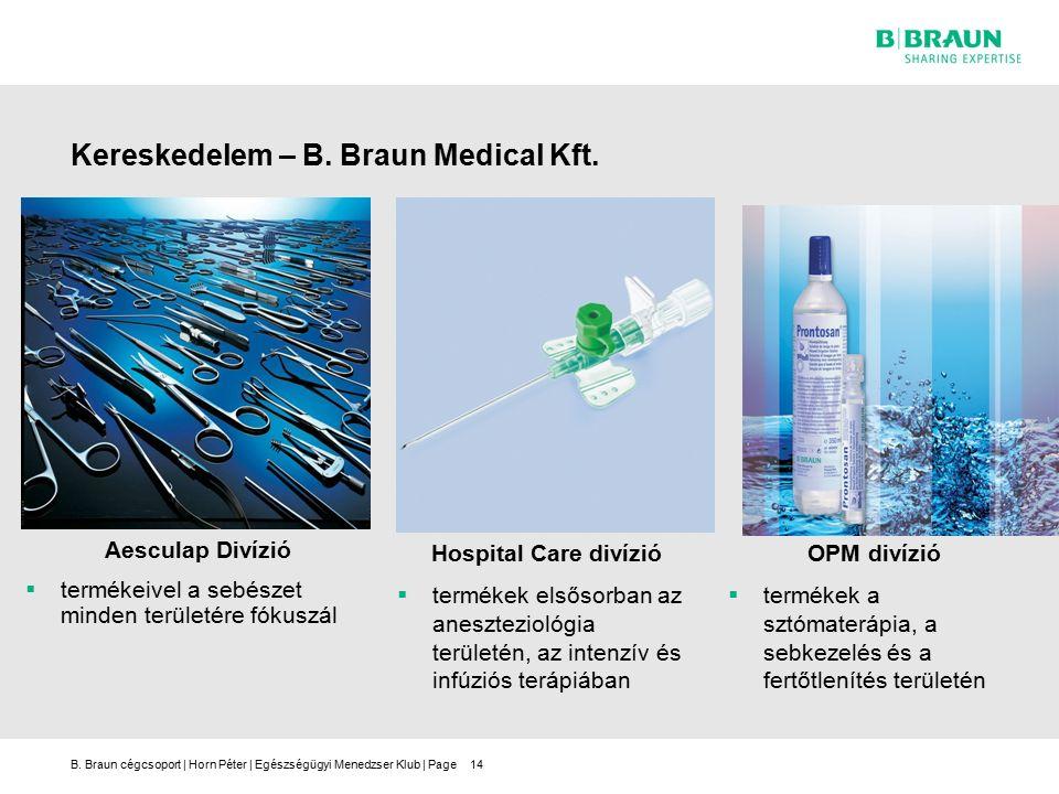 B. Braun cégcsoport | Horn Péter | Egészségügyi Menedzser Klub | Page14 Kereskedelem – B.