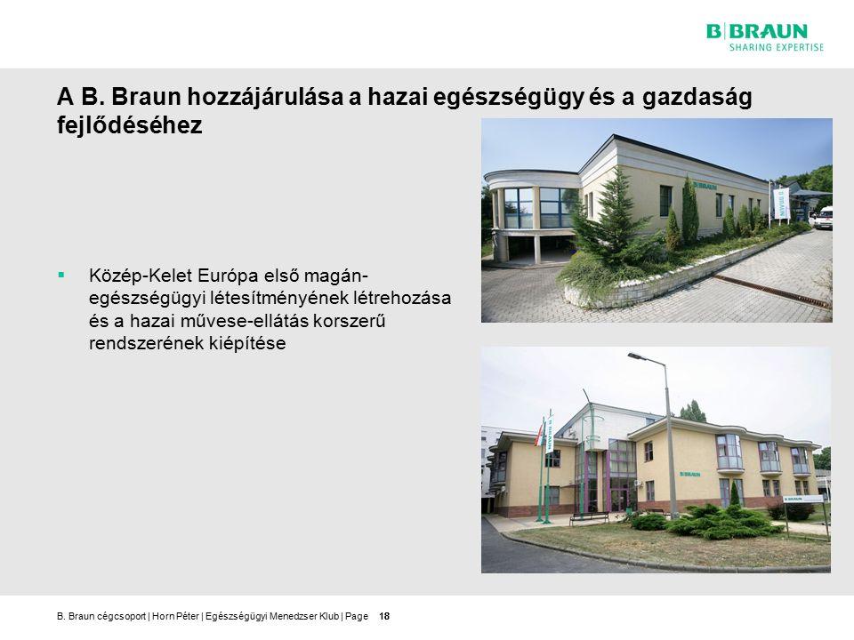 B.Braun cégcsoport | Horn Péter | Egészségügyi Menedzser Klub | Page18 A B.