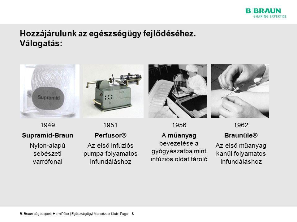 B.Braun cégcsoport   Horn Péter   Egészségügyi Menedzser Klub   Page17 A B.
