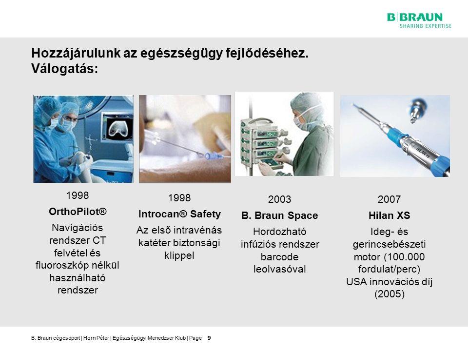 B.Braun cégcsoport   Horn Péter   Egészségügyi Menedzser Klub   Page20 A B.