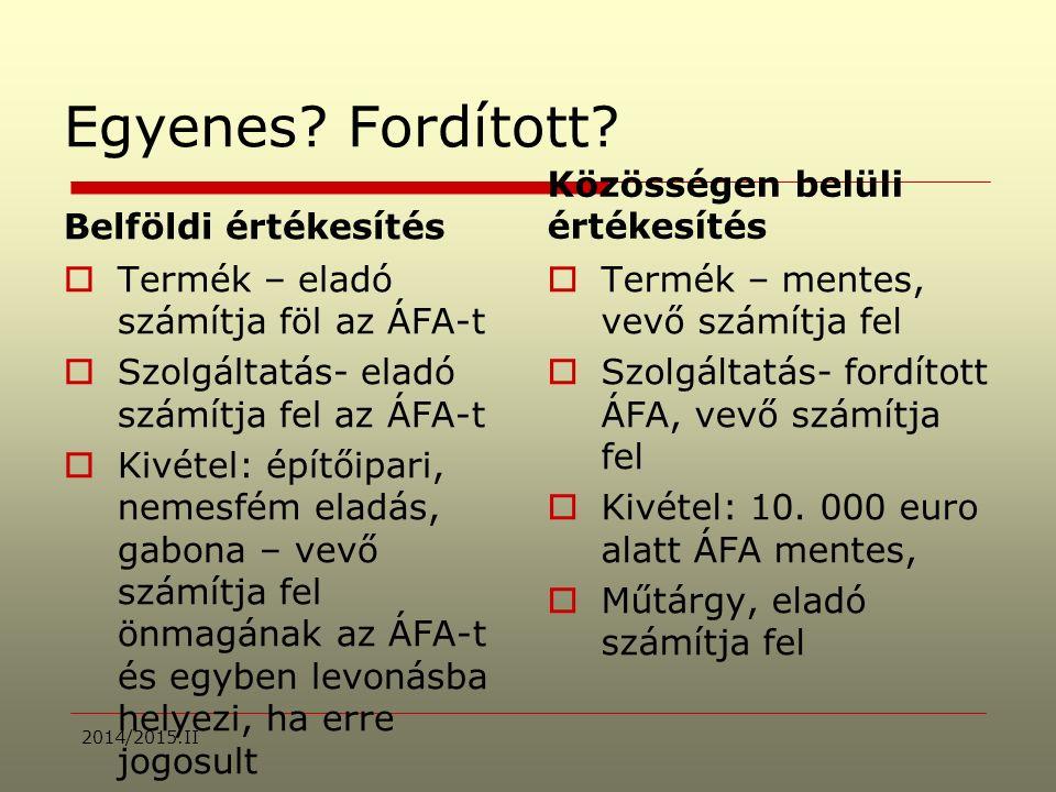 2008/2009 II.Dr Lakatos Mária: ADÓZÁS I.Ki számítja fel az ÁFA-t és mennyit.