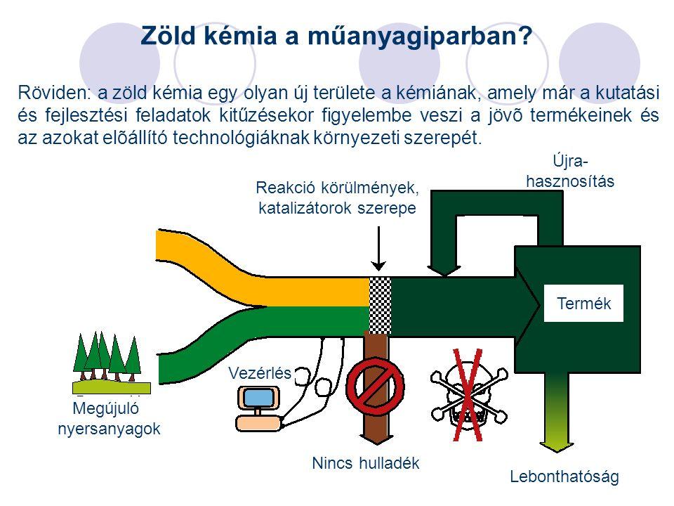 3 Zöld kémia a műanyagiparban? Röviden: a zöld kémia egy olyan új területe a kémiának, amely már a kutatási és fejlesztési feladatok kitűzésekor figye