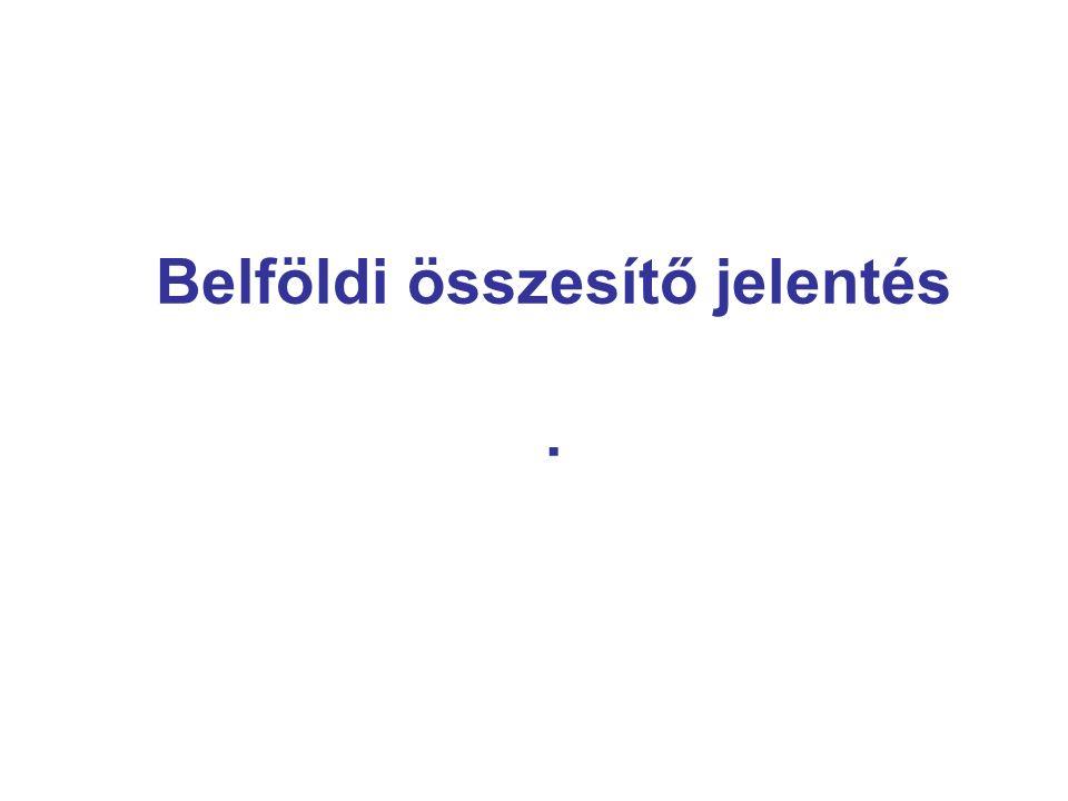 3 Belföldi összesítő jelentés I.Art. 31/B.