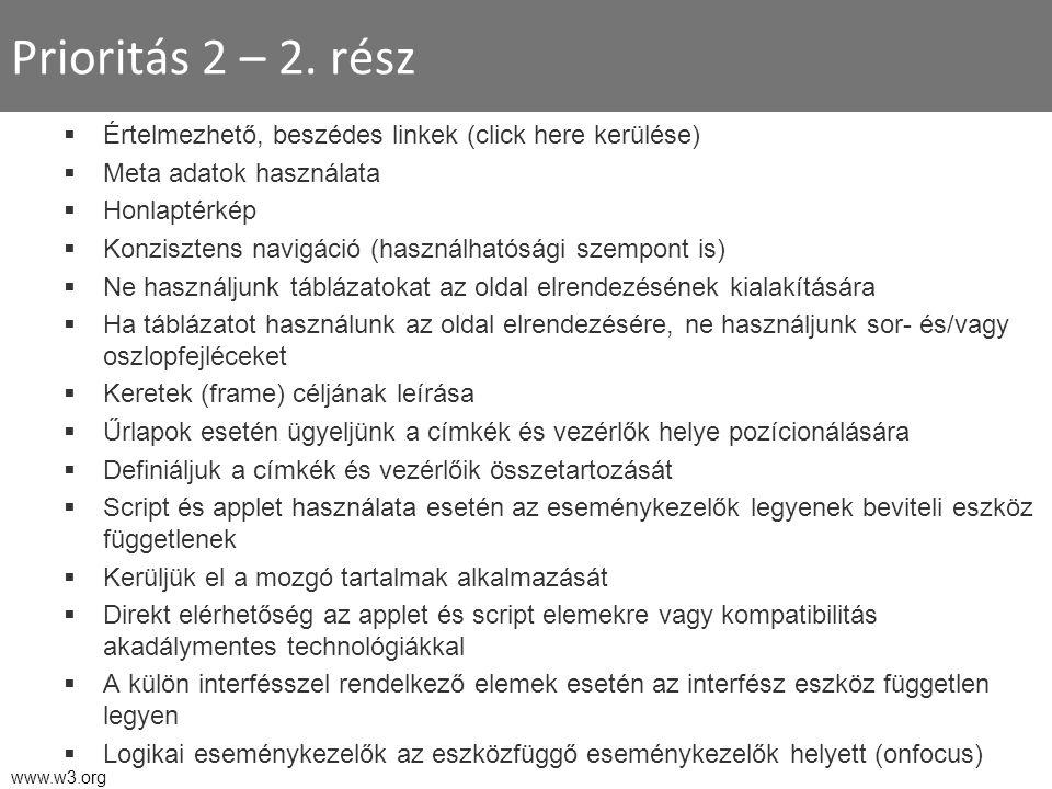Prioritás 2 – 2.