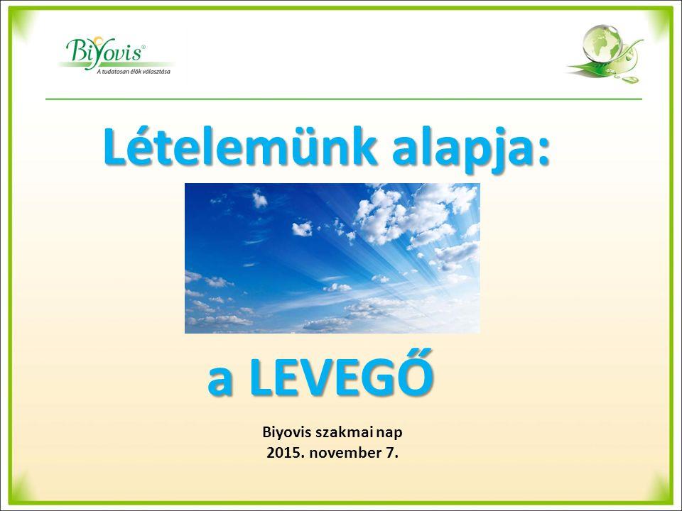 Lételemünk alapja: a LEVEGŐ Biyovis szakmai nap 2015. november 7.