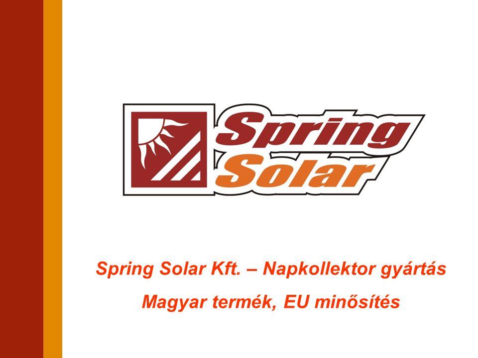 Spring Solar Kft. – Napkollektor gyártás Magyar termék, EU minősítés