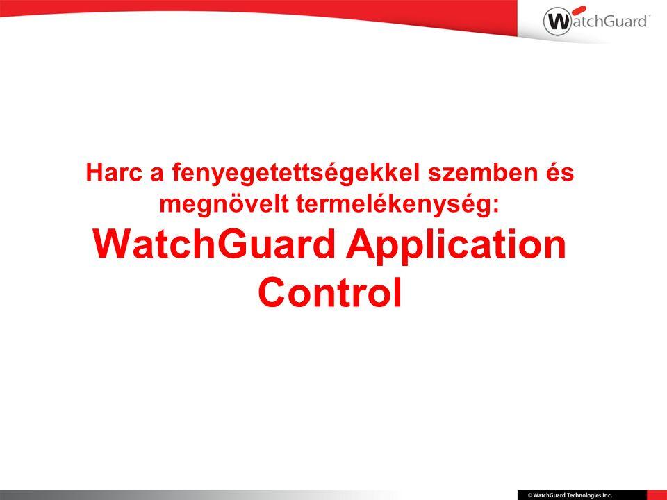 Harc a fenyegetettségekkel szemben és megnövelt termelékenység: WatchGuard Application Control