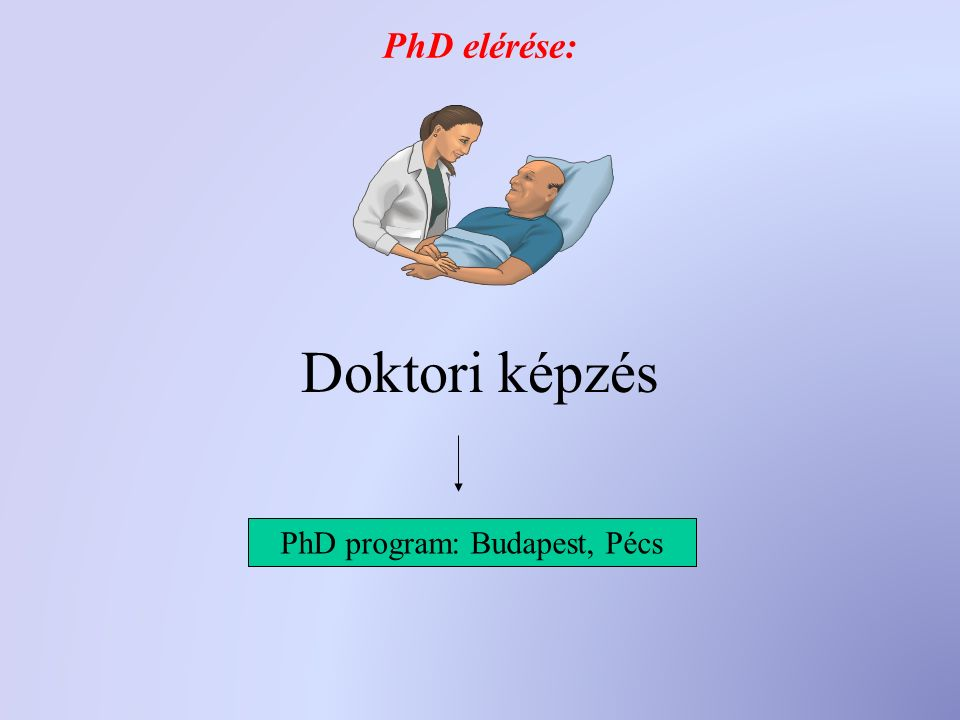 PhD elérése: Doktori képzés PhD program: Budapest, Pécs