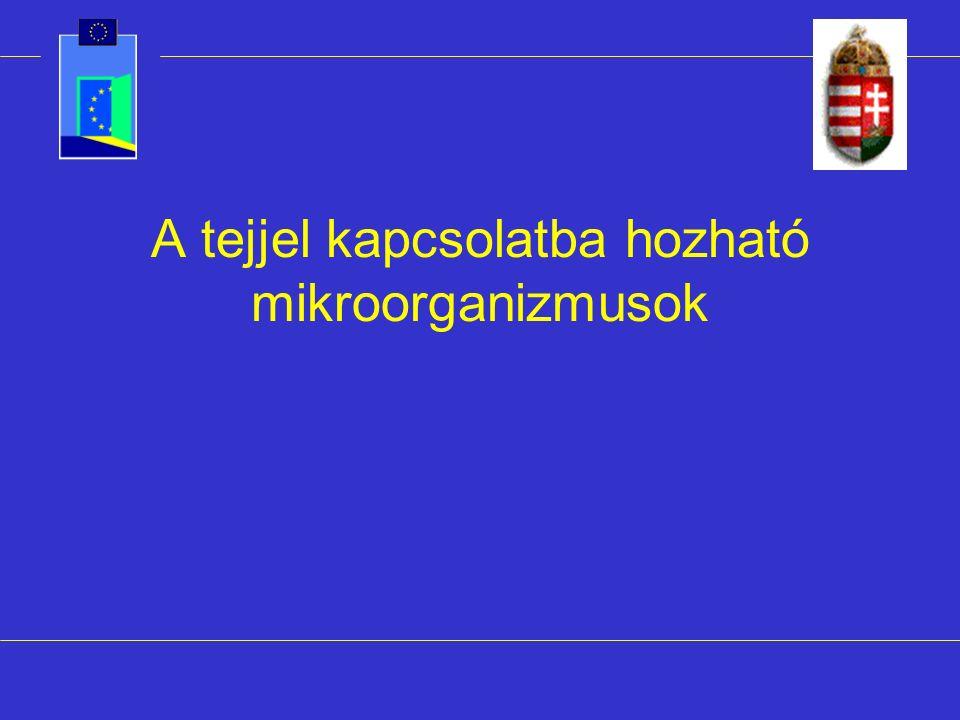 A tejjel kapcsolatba hozható mikroorganizmusok
