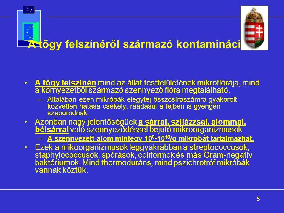 26 Staphylococcus aureus Emberi megbetegedések : >10 5 -10 6 /g baktérium (ennyi kell a tünetek kiváltásához szükséges 1µg toxin termeléséhez) enterotoxin hányinger, hányás, hasmenés, igen gyors lezajlás (akár az elfogyasztás után 1 órával!) Vízaktivitási minimum: –Növekedéshez: 0,86 –Toxintermeléshez: 0,90 Hőkezelés: –Maga a baktérium hamar elpusztul.