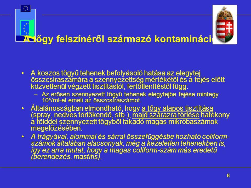 7 A berendezésekről származó kontamináció I.