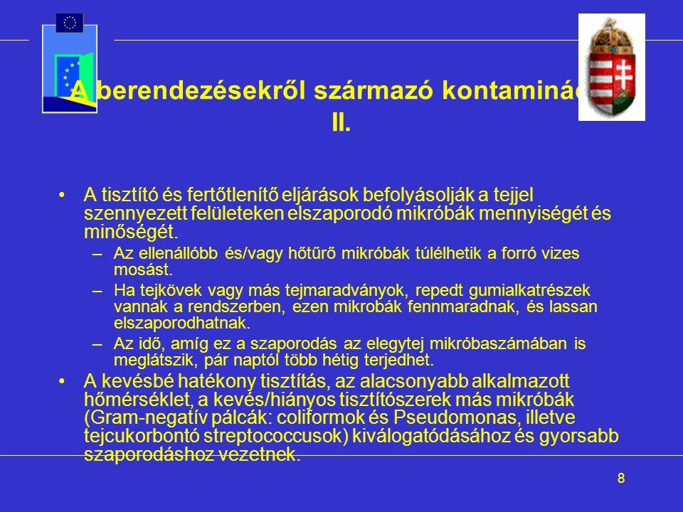 8 A berendezésekről származó kontamináció II.