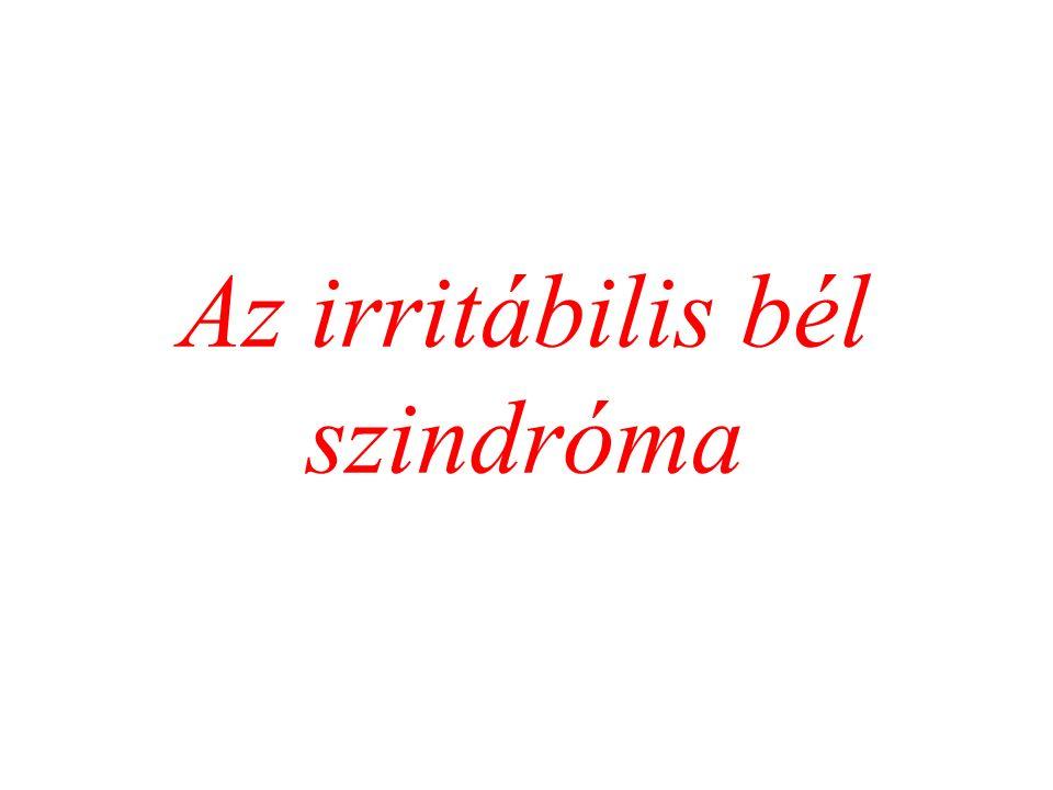 Az irritábilis bél szindróma