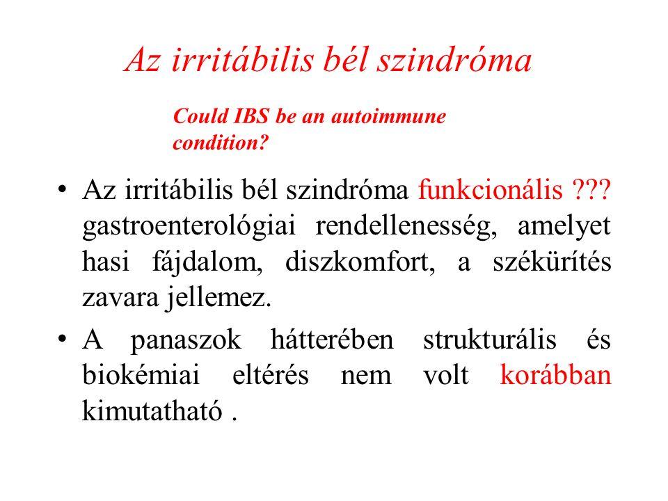 Az irritábilis bél szindróma funkcionális ??.