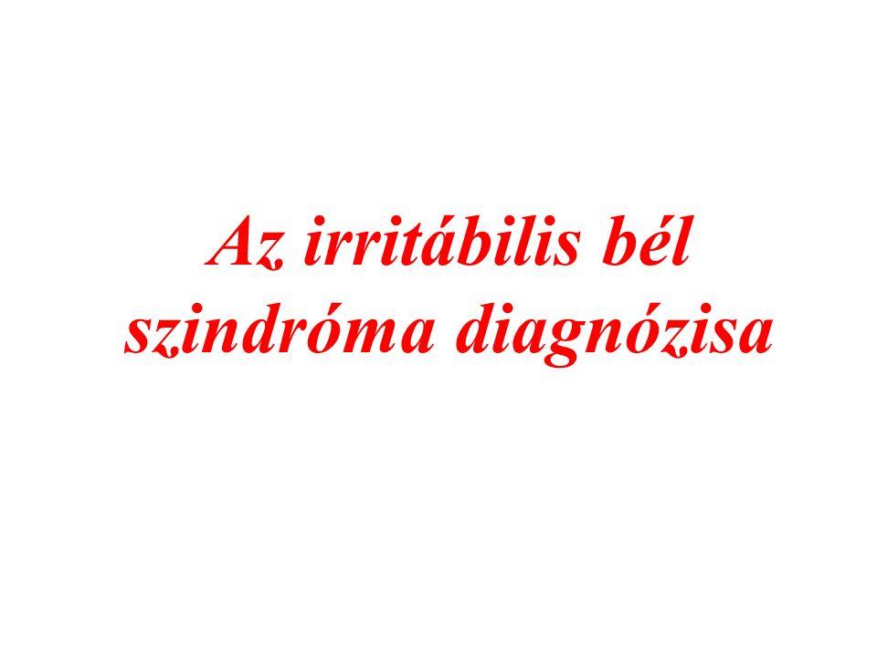 Az irritábilis bél szindróma diagnózisa