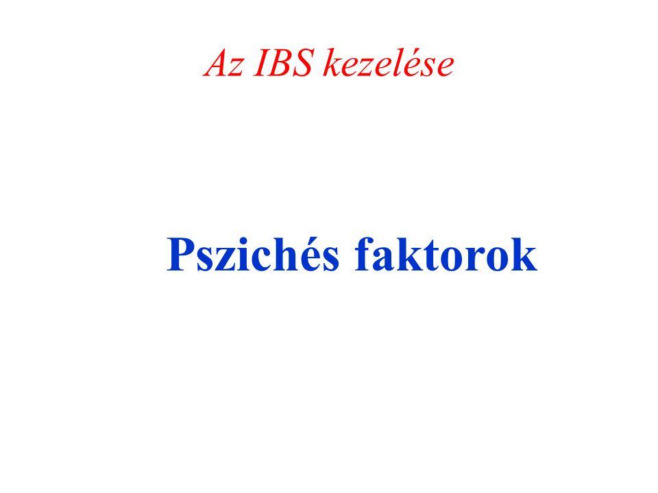 Az IBS kezelése Pszichés faktorok