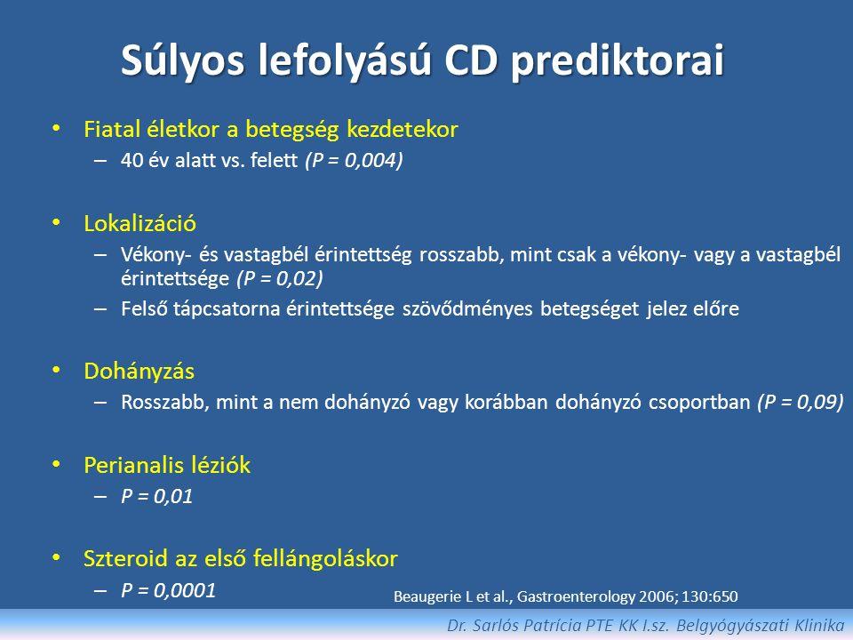 Sebészeti beavatkozás szükségessége Dr. Sarlós Patrícia PTE KK I.sz. Belgyógyászati Klinika