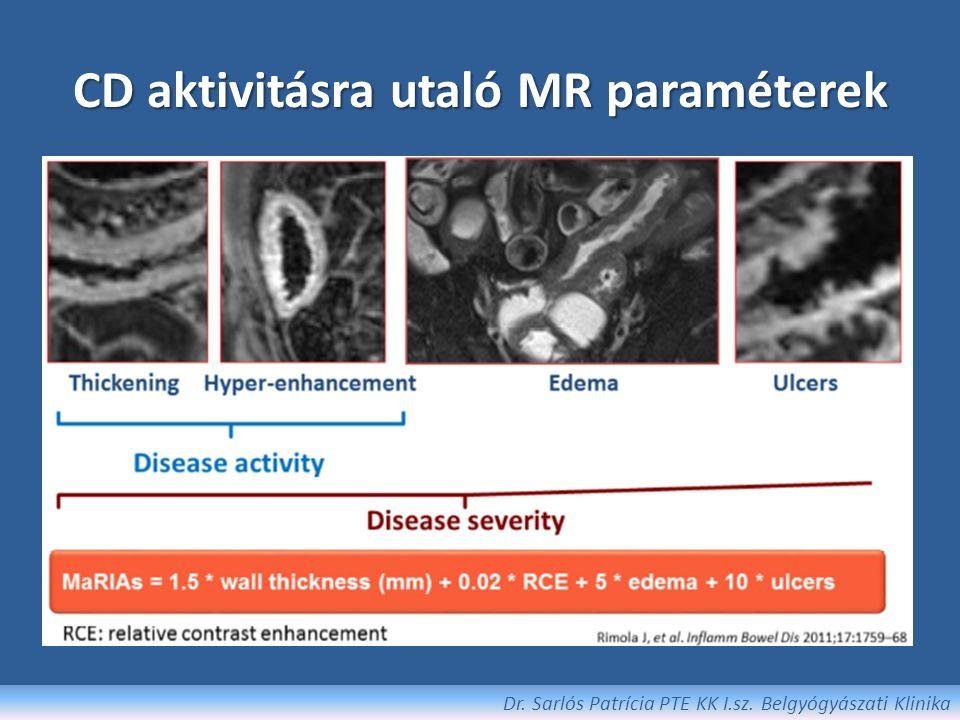 CD aktivitásra utaló MR paraméterek Dr. Sarlós Patrícia PTE KK I.sz. Belgyógyászati Klinika