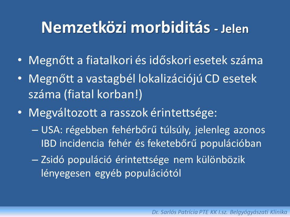 Cosnes et al, 2011 Globális IBD incidencia Dr. Sarlós Patrícia PTE KK I.sz. Belgyógyászati Klinika