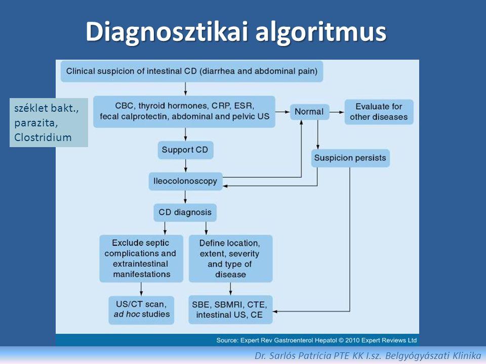CRC Screening/surveillance colonoscopia: – Proctitis – nem indokolt – Bal oldali colitis – 6-8 év múlva screening, majd rizikó stratifikáció alapján – Pancolitis – 6-8 év múlva screening, majd rizikó stratifikáció alapján – PSC esetén – PSC diagnózis időpontjától évente Fokozott rizikó: extensív colitis, endoszkópos/szövettani gyulladás, pozitív családi anamnézis, pseudopolypok High risk: 1-2 évente, low risk: 3-4 évente colonoscopia + biopsia Chemoprevenció: – 5-ASA – UDCA .
