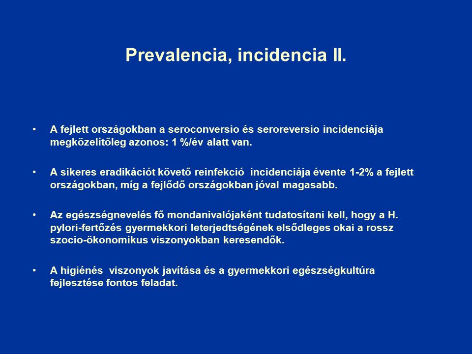 Prevalencia, incidencia II.