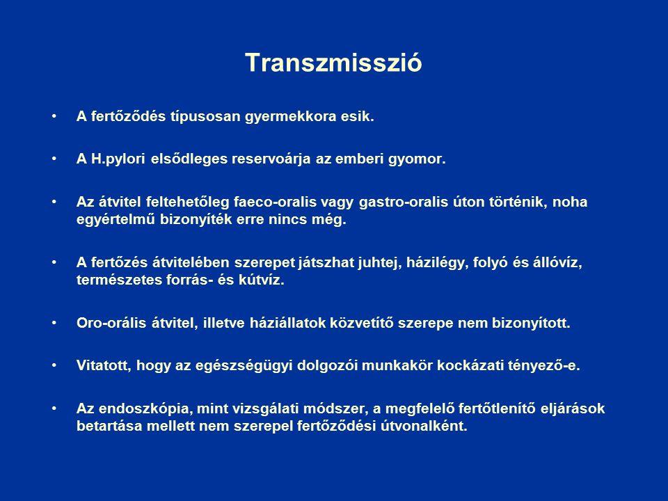Transzmisszió A fertőződés típusosan gyermekkora esik.