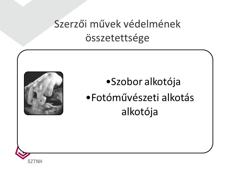 Szerzői művek védelmének összetettsége Szobor alkotója Fotóművészeti alkotás alkotója