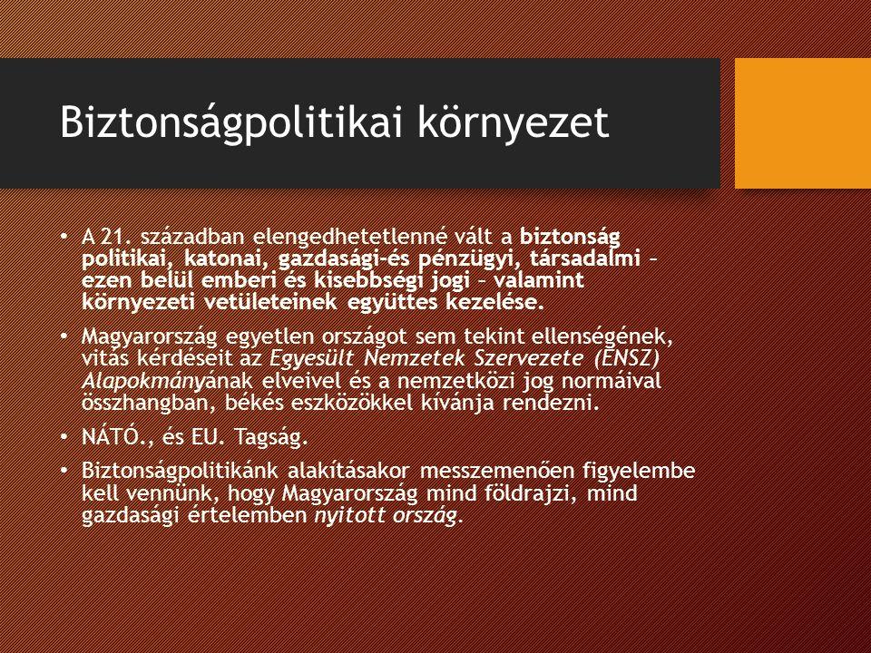 Biztonságpolitikai környezet A 21.