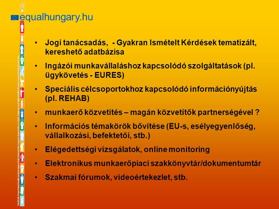 Jogi tanácsadás, - Gyakran Ismételt Kérdések tematizált, kereshető adatbázisa Ingázói munkavállaláshoz kapcsolódó szolgáltatások (pl.