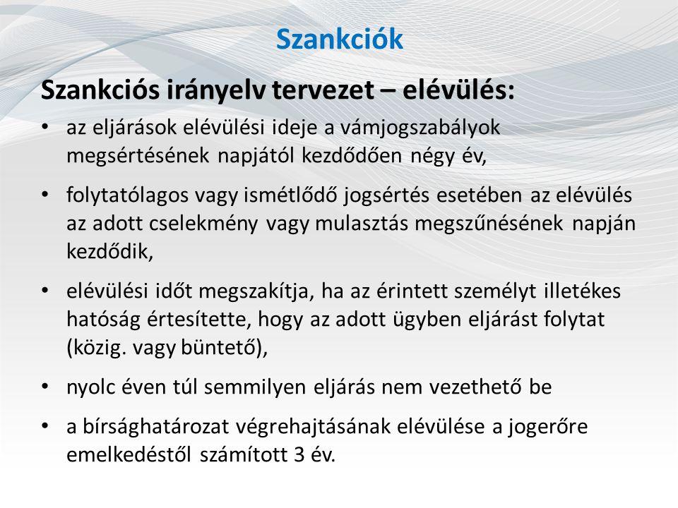 Szankciók Szankciós irányelv tervezet – további elvek: eljárás felfüggesztése, joghatóság, tagállamok közti együttműködés, lefoglalás