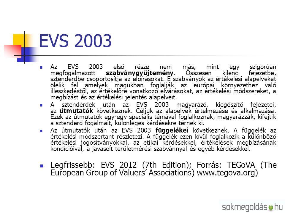 EVS 2003 Az EVS 2003 első része nem más, mint egy szigorúan megfogalmazott szabványgyűjtemény.