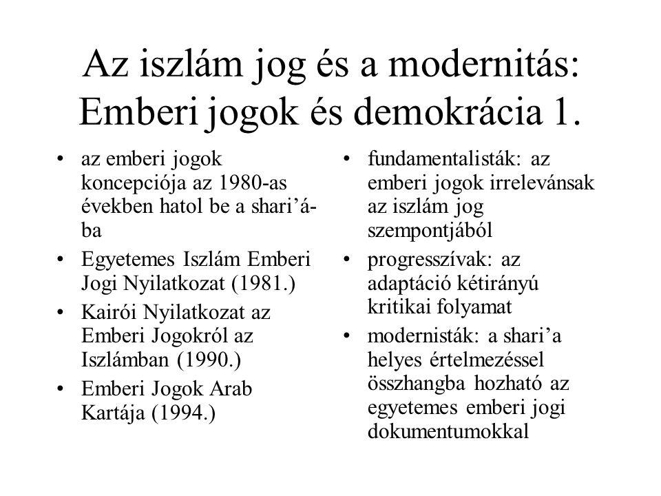 Az iszlám és a Nyugat: közeledés és távolodás 2. a XX.