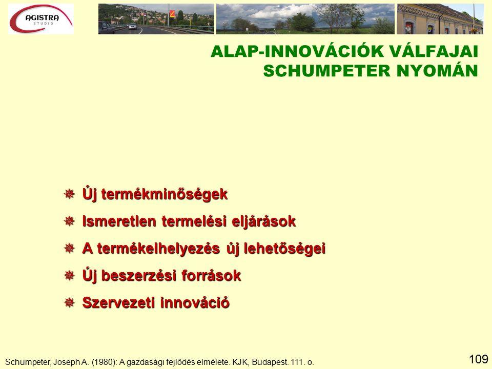 109 Schumpeter, Joseph A. (1980): A gazdasági fejlődés elmélete.