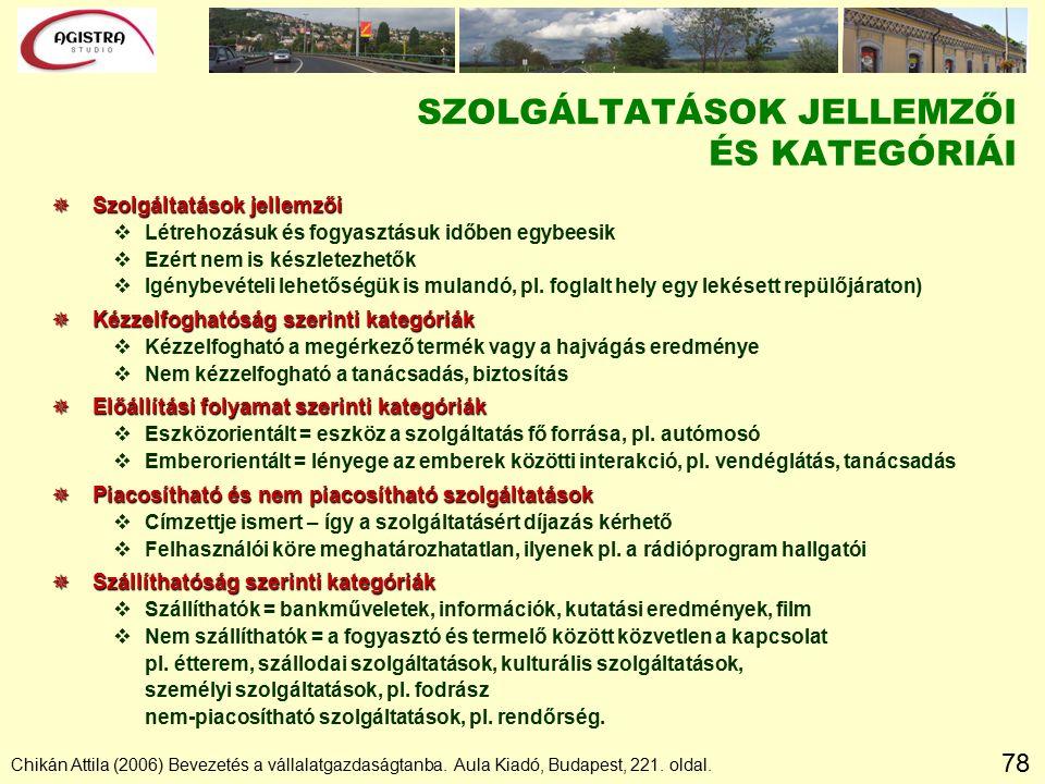 78 Chikán Attila (2006) Bevezetés a vállalatgazdaságtanba.