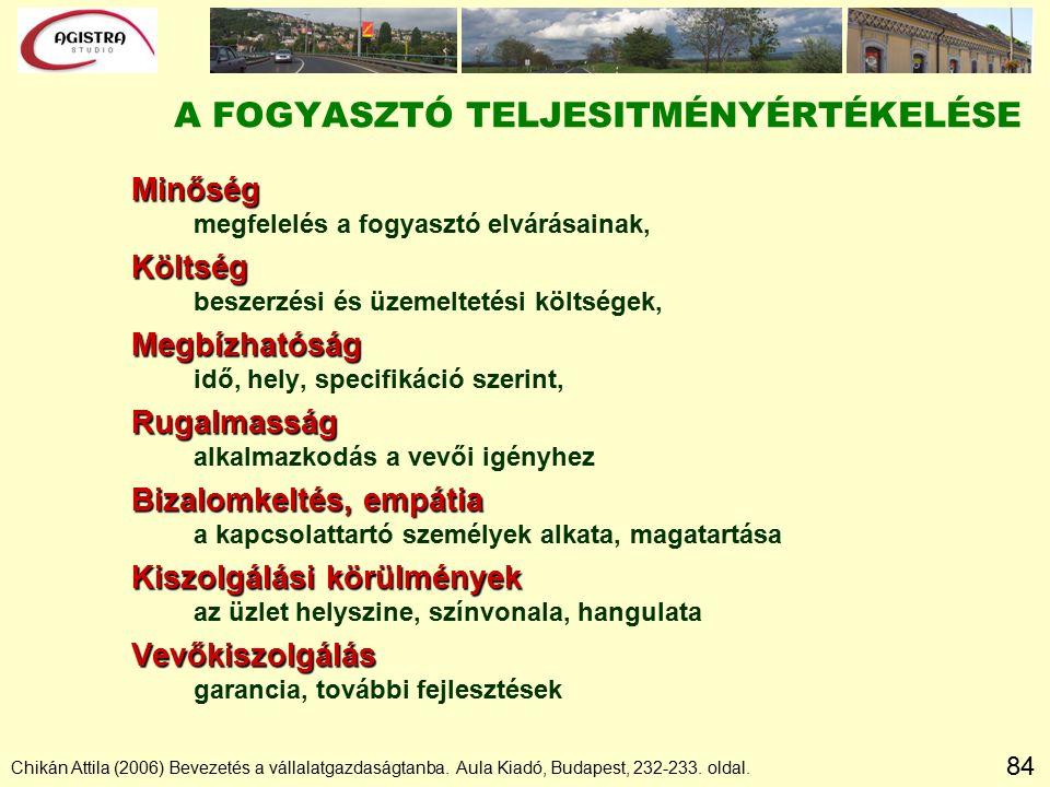 84 Chikán Attila (2006) Bevezetés a vállalatgazdaságtanba.