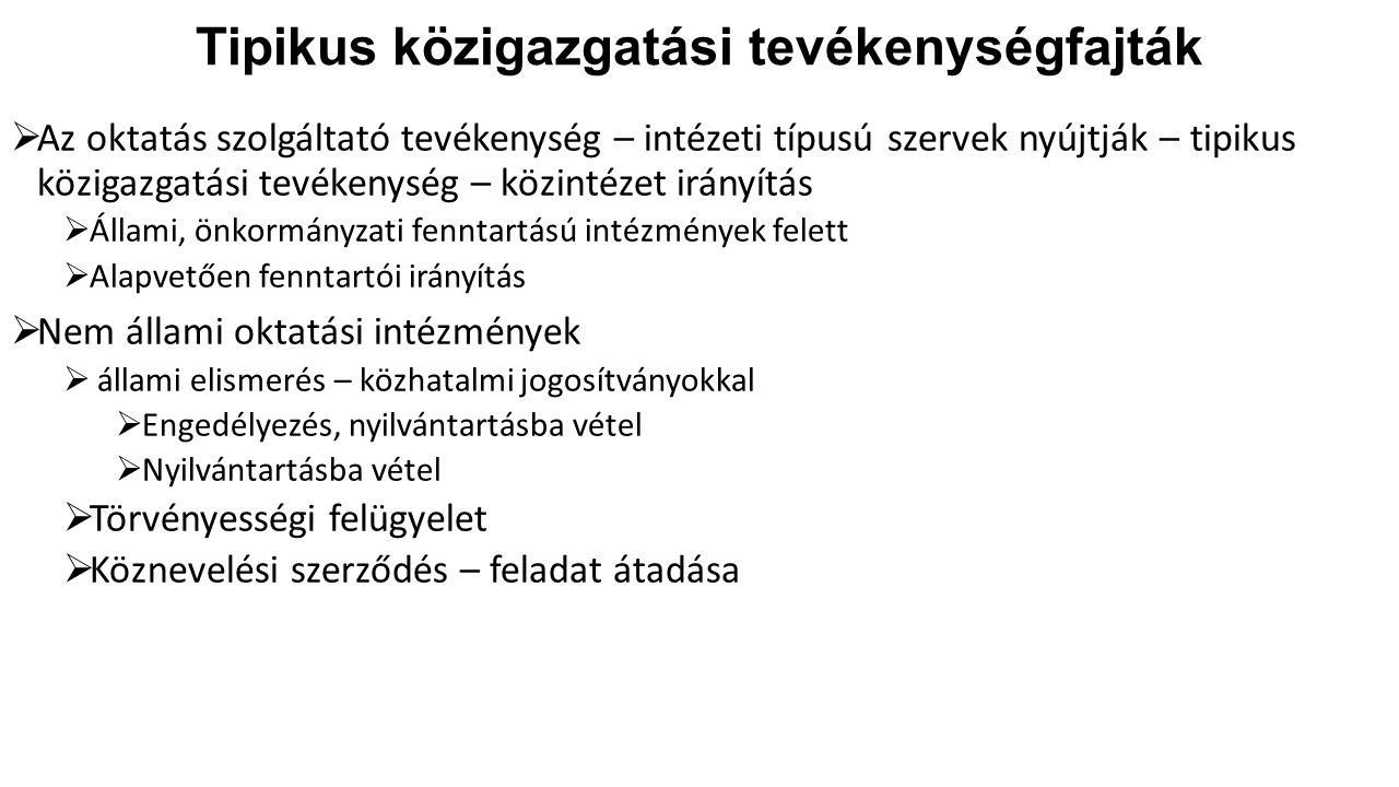 Köznevelési intézmények irányítása III.4.