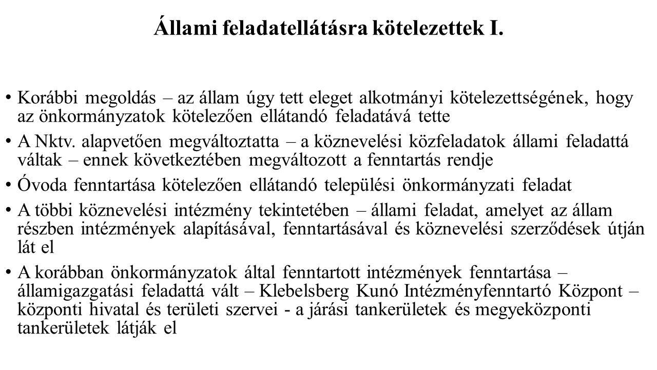Köznevelési intézmények irányítása IV.5.