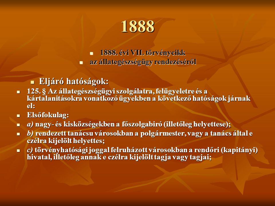 1888 1888.évi VII. törvénycikk 1888. évi VII.