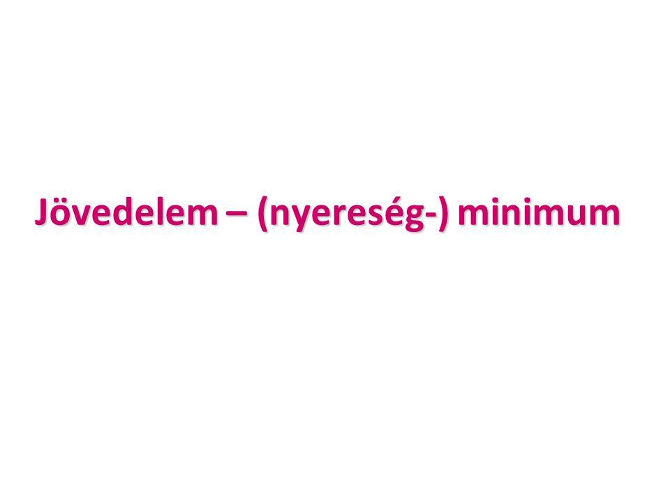 Jövedelem – (nyereség-) minimum