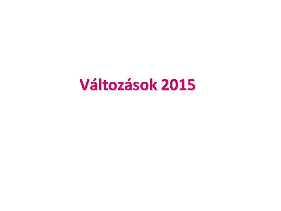 Változások 2015