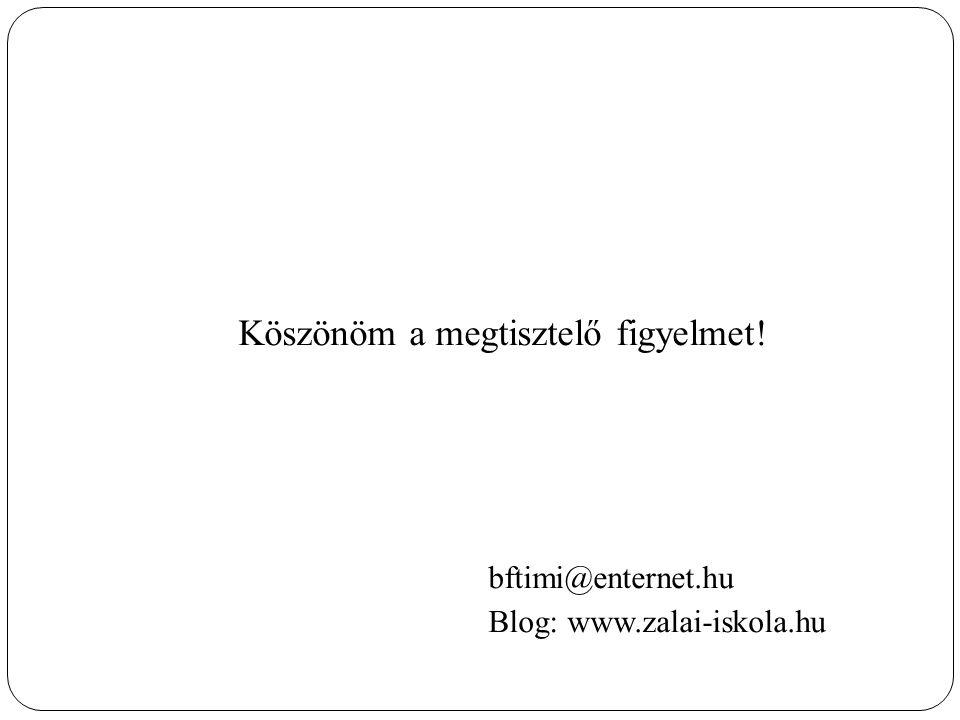 Köszönöm a megtisztelő figyelmet! bftimi@enternet.hu Blog: www.zalai-iskola.hu